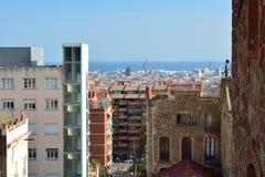 Barcelona, view from park Güell Stock Photo