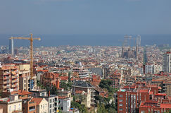 Barcelona view, Spain. Cityscape view of Barcelona, Spain, Europe Stock Image