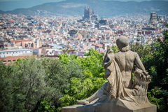 Barcelona view Royalty Free Stock Image