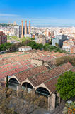 Barcelona View from top of Columbus Statue Royalty Free Stock Photography