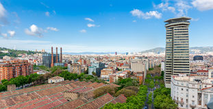 Barcelona View from top of Columbus Stock Photos
