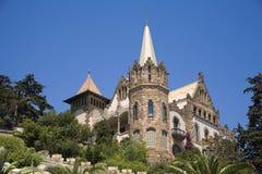 Barcelona - villa on the Tibidabo stock images