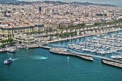Barcelona, visión desde el aire Fotos de archivo libres de regalías