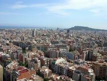 Barcelona - visión desde el La Sagrada Familia Imágenes de archivo libres de regalías