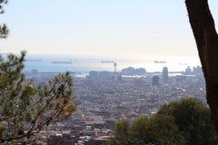Barcelona vista das alturas de Collserola Foto de Stock Royalty Free