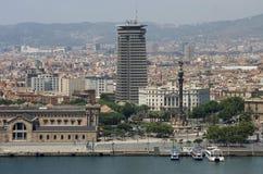 Barcelona vom Hafen lizenzfreie stockfotos