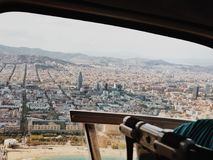 Barcelona vom Himmel lizenzfreie stockfotos