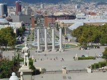 Barcelona von den Schritten Lizenzfreie Stockfotos