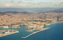 Barcelona von der Luft Stockbilder