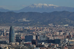 Barcelona von Montjuic lizenzfreies stockbild
