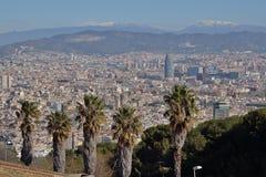 Barcelona von Montjuic Stockfoto