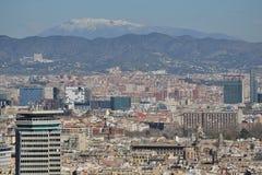 Barcelona von Montjuic Lizenzfreie Stockbilder