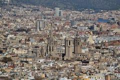 Barcelona von Montjuic Stockfotografie