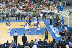 Barcelona vs Dallas Mavericks Royalty Free Stock Images