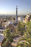 Barcelona W Parkowym Guell Zdjęcia Royalty Free