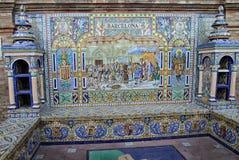 Barcelona w sławnym Placu De Espana, Seville Obrazy Stock