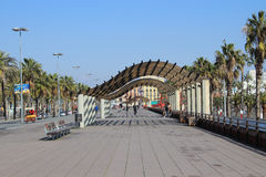 Barcelona Walkway Stock Images