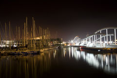Barcelona - waterfront in night Royalty Free Stock Photography