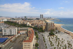 Barcelona. Waterfront in the summer Royalty Free Stock Photography