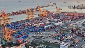 Barcelona-Werft-Zeitspanne Pan stock footage
