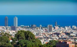 Barcelona whole City view royalty free stock photography