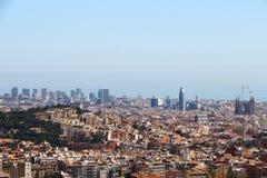 Barcelona widok Obrazy Royalty Free