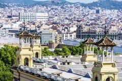 Barcelona widok Zdjęcia Royalty Free