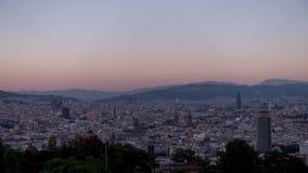Barcelona Widok miasto zbiory wideo
