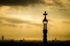 Barcelona widok od Guel parka - Gaudi Zdjęcie Stock