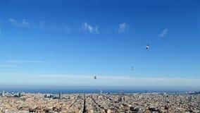 Barcelona widoki wierzchołek zdjęcie stock