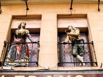 Barcelona Window Art Stock Photography