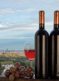 Barcelona and wine Stock Photos