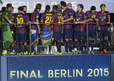 Barcelona wins Champions League Final Royalty Free Stock Image