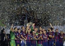 Barcelona wins Champions League Final Royalty Free Stock Photo