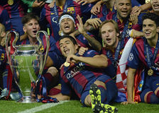 Barcelona wins Champions League Final Royalty Free Stock Photos