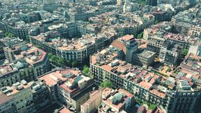 Barcelona-Wohngebiet blockiert Mustervogelperspektive, Spanien Lizenzfreie Stockfotografie