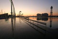 barcelona wschód słońca Obraz Royalty Free