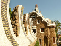 barcelona wyjścia guell domu parc Spain Obraz Royalty Free