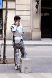 barcelona wykonawcy ulica Obraz Stock