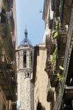 Barcelona & x28; Spain& x29;: gotisch kwart Royalty-vrije Stock Afbeeldingen