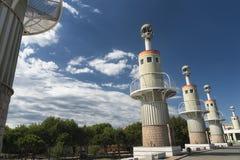 Barcelona & x28; Spain& x29;: modernt parkera Arkivbilder