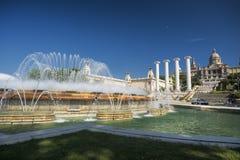 Barcelona & x28; Spain& x29;: Montjuic Royaltyfri Foto