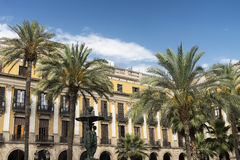 Barcelona & x28;Spain& x29;: Royal Square Royalty Free Stock Photo