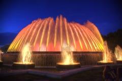 Barcelona Zingende fonteinen van Montjuic Stock Afbeeldingen