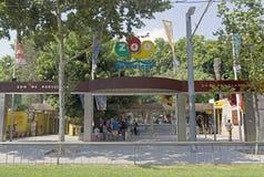 Barcelona zoo. BARCELONA, SPAIN - JULY 12, 2015: Main entrance of Barcelona zoo, Spain. Founded in 1892 Stock Photos