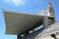 Barcelonas arena - tribune with roof stock photos