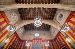 Barcelonas stadshus, Barcelona, Spanien Royaltyfria Bilder