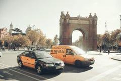 Barcelone, Arc de Triomf Photographie stock libre de droits