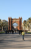 Barcelone Arc de Triomf Images libres de droits