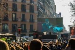 Barcelona, Catalonia/Spain - february 21 2019: Strike to support politics prisoners